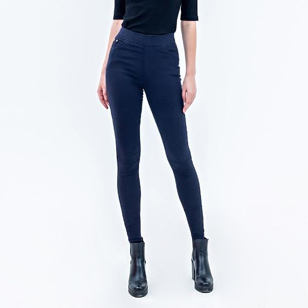 leggings  Skinny Slim Black Blue Casual High Waist Elastic - Shop Women's T-shirts, blouses, Leggings & Trousers online - Luwos
