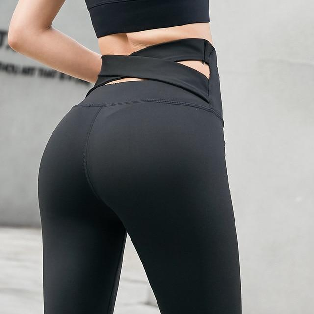 Workout Women Leggings High Wasit Push Up Ankle - Shop Women's T-shirts, blouses, Leggings & Trousers online - Luwos