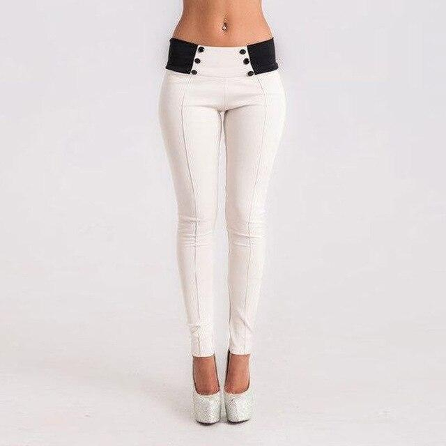 Women Sexy High Waist Solid Long Pants 2020 - Shop Women's T-shirts, blouses, Leggings & Trousers online - Luwos