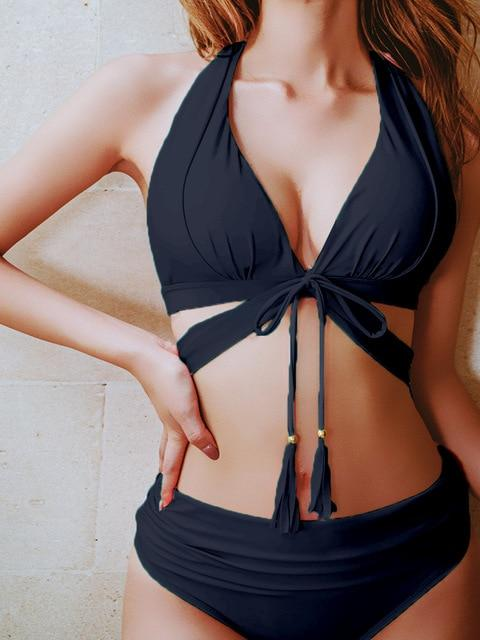 High Waist Push Up Bikini 2020 - Shop Women's T-shirts, blouses, Leggings & Trousers online - Luwos