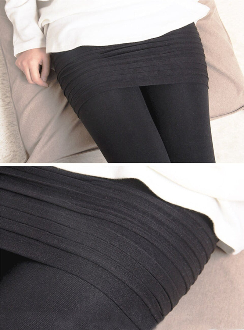 Women Leggings With Pleated Skirt Integrated - Shop Women's T-shirts, blouses, Leggings & Trousers online - Luwos