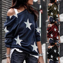2020 New Women Casual Loose Star - Shop Women's T-shirts, blouses, Leggings & Trousers online - Luwos