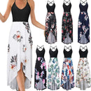 Women Summer Boho Sling Dress Sexy Floral Printed - Shop Women's T-shirts, blouses, Leggings & Trousers online - Luwos