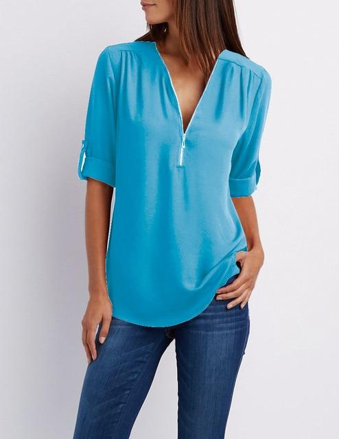 2020 Summer Women Chiffon Blouse - Shop Women's T-shirts, blouses, Leggings & Trousers online - Luwos