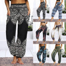 Women Loose Yoga Pants Floral - Shop Women's T-shirts, blouses, Leggings & Trousers online - Luwos