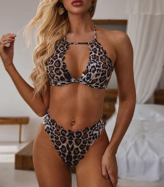 Sexy Print Brazilian Bikini Female - Shop Women's T-shirts, blouses, Leggings & Trousers online - Luwos