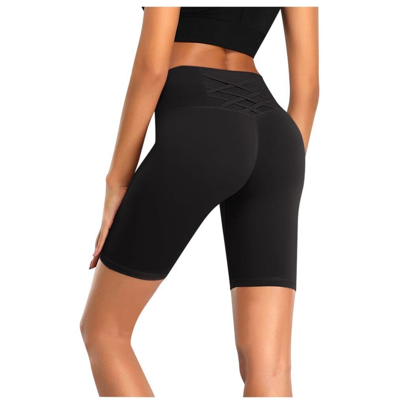 Women High Waist Energy Yoga Shorts Push Up - Shop Women's T-shirts, blouses, Leggings & Trousers online - Luwos