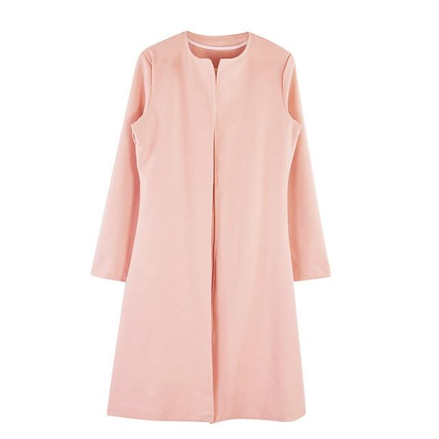 Luwos:Dress Suits Women Long Blazer Jacket+Sheath - Shop Women's T-shirts, blouses, Leggings & Trousers online - Luwos