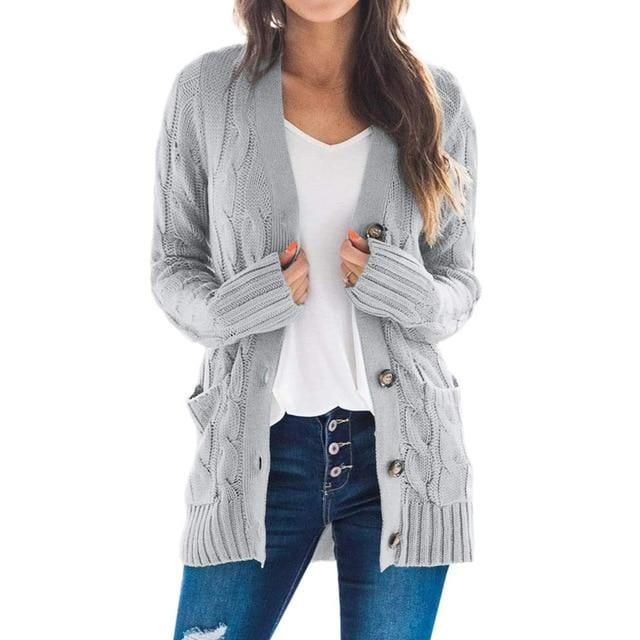 2020 New Style for Autumn and Winter Cardigan Sweater - Shop Women's T-shirts, blouses, Leggings & Trousers online - Luwos
