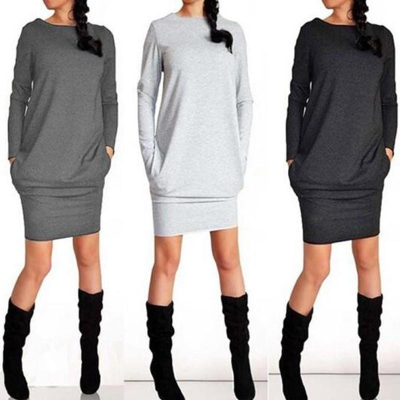 Luwos: Dress Female Long Sleeve - Shop Women's T-shirts, blouses, Leggings & Trousers online - Luwos