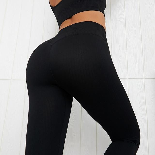 High Waist Yoga Pants Seamless Women Sports Leggings - Shop Women's T-shirts, blouses, Leggings & Trousers online - Luwos