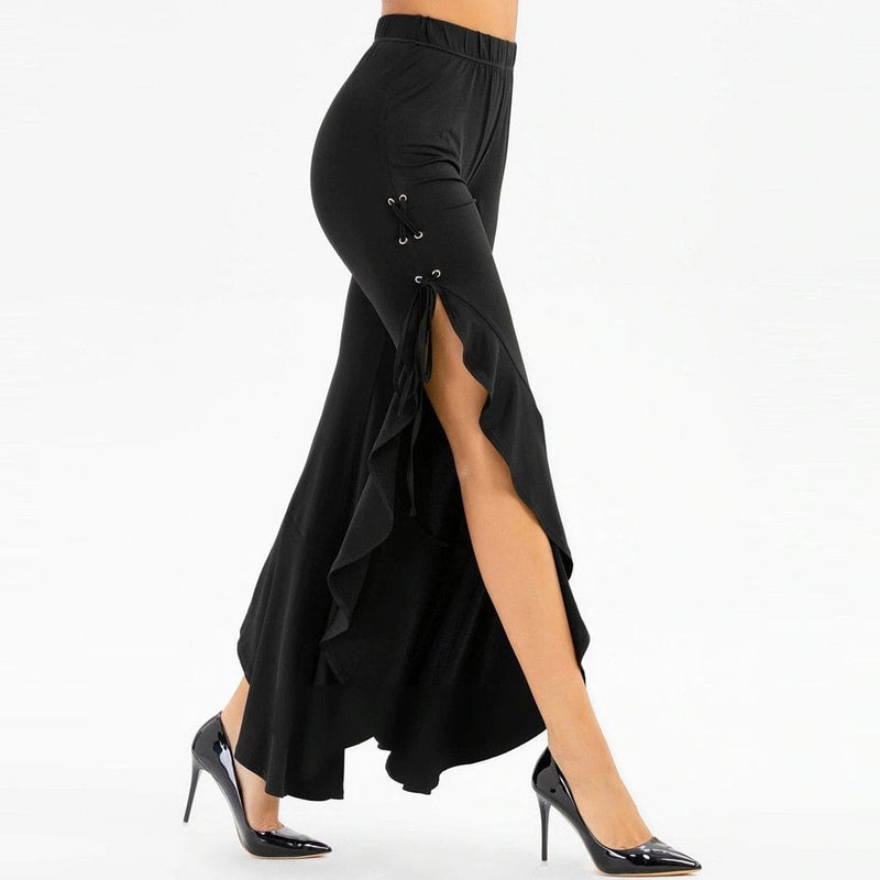Luwos:  High Waist Pants Ladies Black Evening Party - Shop Women's T-shirts, blouses, Leggings & Trousers online - Luwos