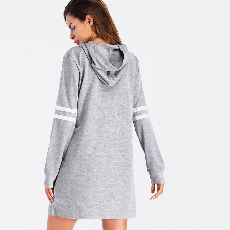 Sweatshirts Long Sleeve Hoodie Casual Long Sweatshirt - Shop Women's T-shirts, blouses, Leggings & Trousers online - Luwos