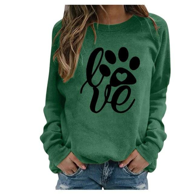 Luwos:  Hoodie Women  Fashion Long Sleeve Print - Shop Women's T-shirts, blouses, Leggings & Trousers online - Luwos