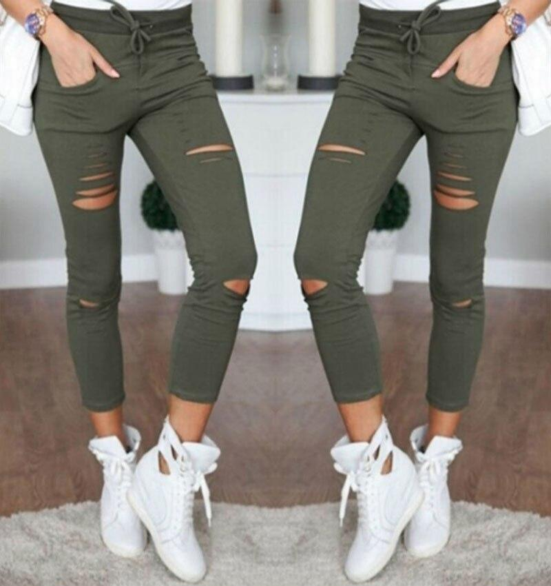New 2020 Women Skinny Stretch Slim  Leggings - Shop Women's T-shirts, blouses, Leggings & Trousers online - Luwos