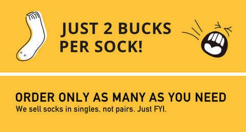 Just 2 bucks per sock