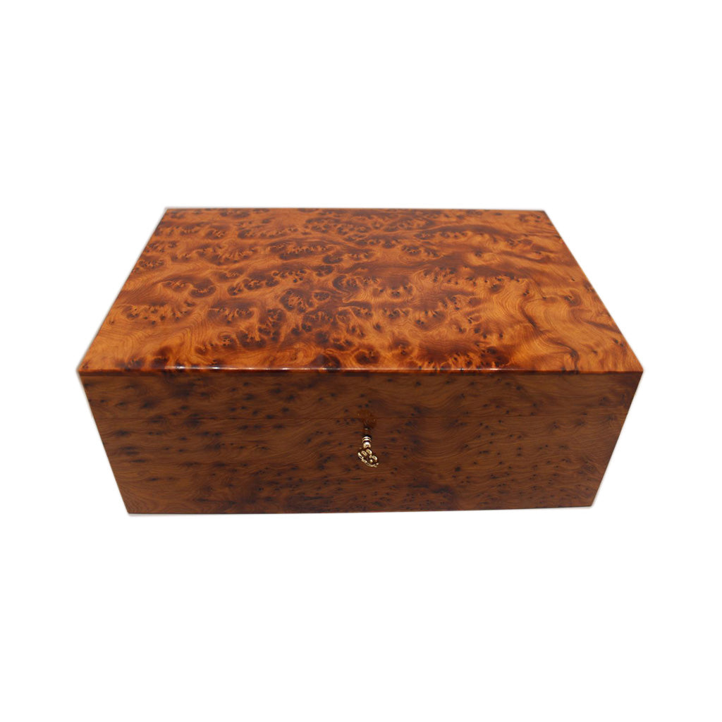 Luxurious Large Thuya Wooden Jewelry Organizer Box - Moroccan Interior