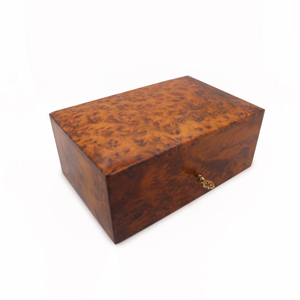 Moroccan Thuya Wooden Jewelry Box With Storage - Moroccan Interior