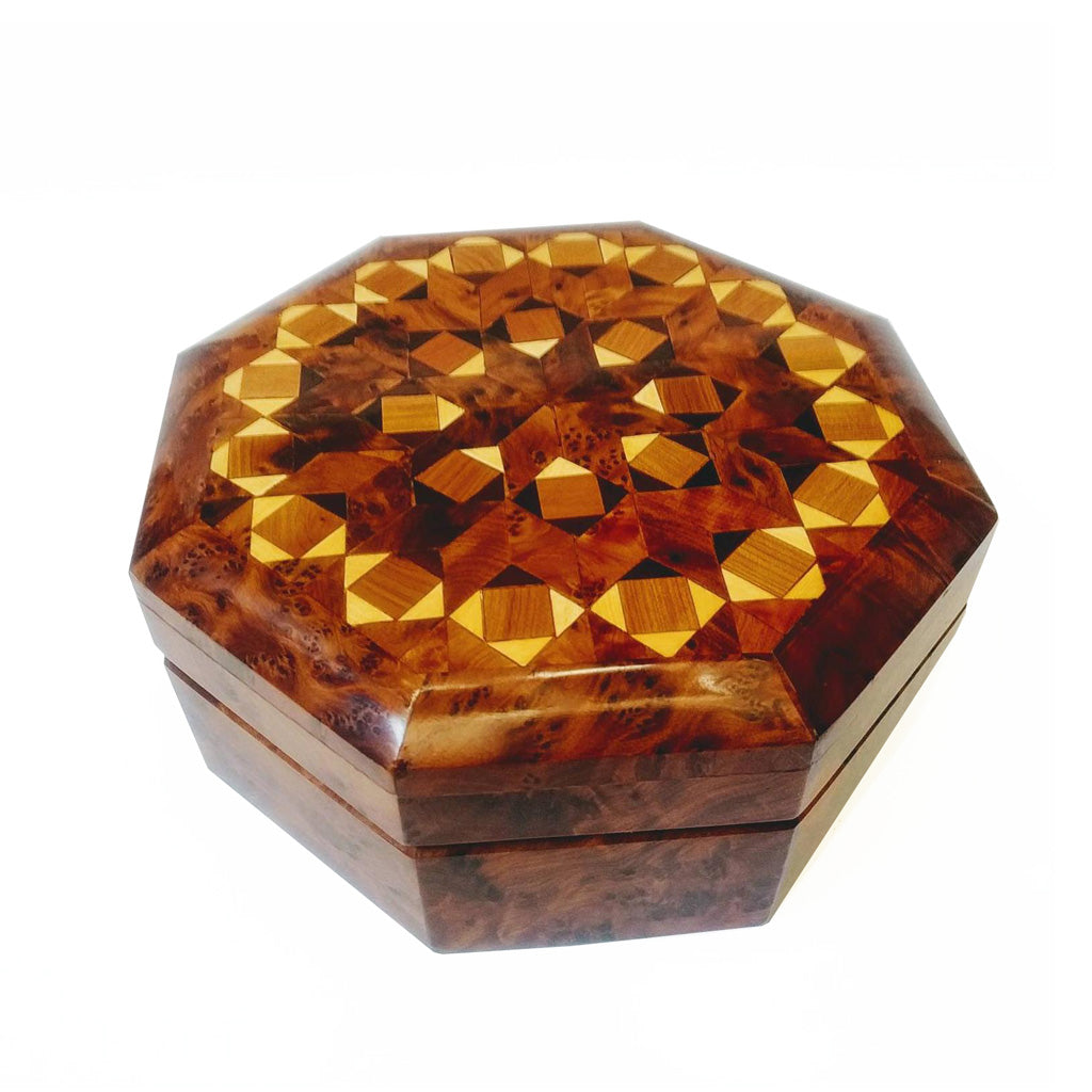 Hand-carved Moroccan Thuya Jewelry Box - Moroccan Interior