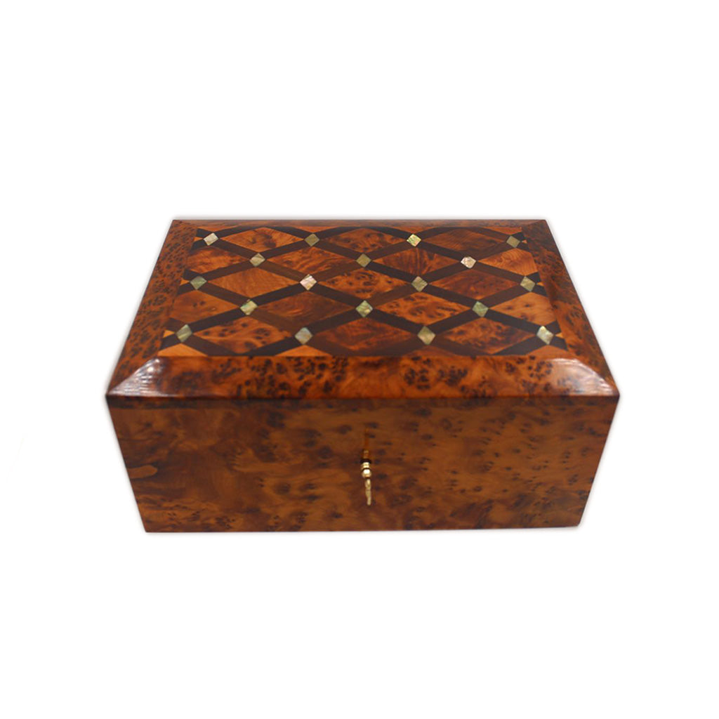 Thuya Wood Jewelry Box Inlaid With Mother-Of-Pearl - Moroccan Interior
