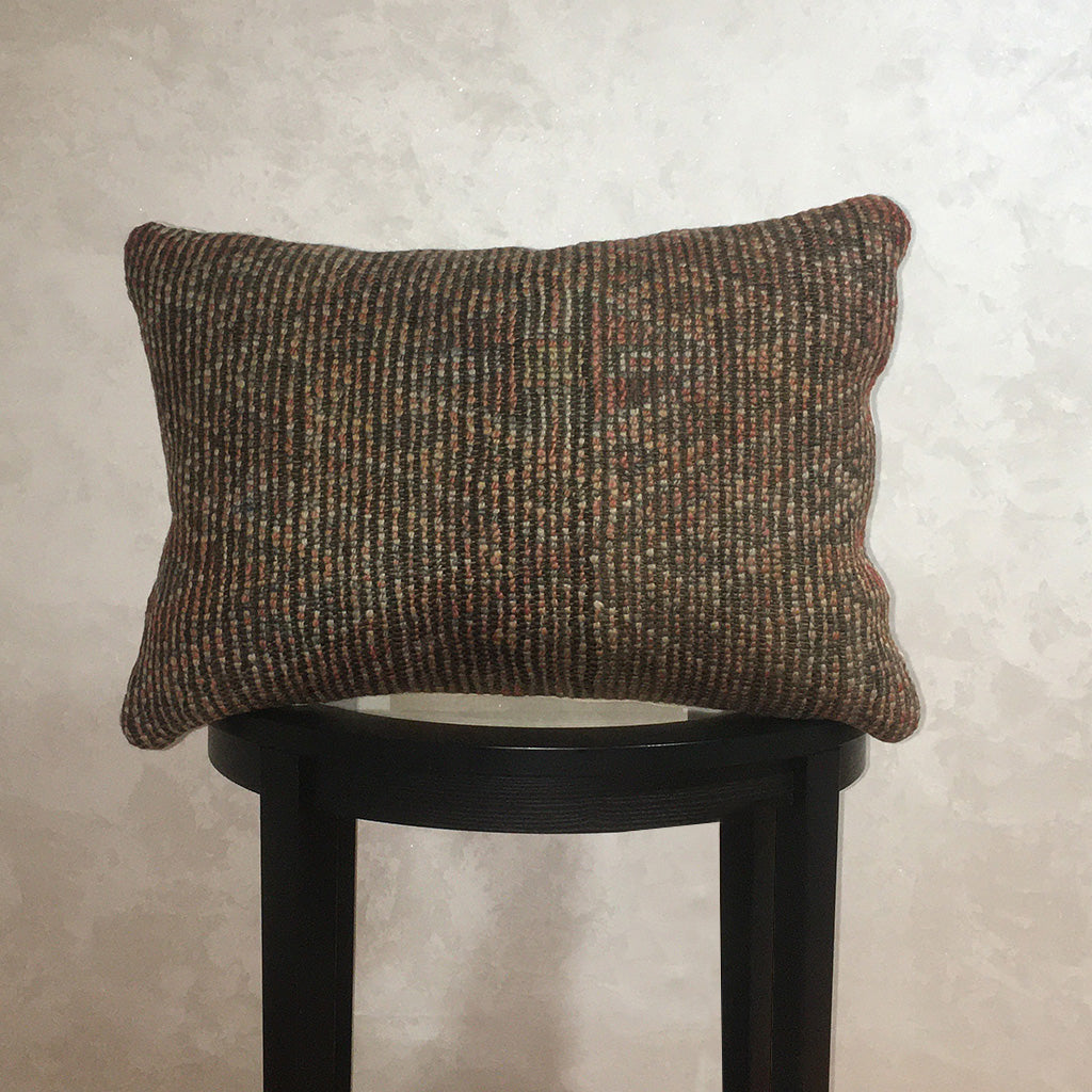 "Vintage Moroccan Wool Pillow, Berber Wool Cushion Cover Dark Green 16""x23"" - Moroccan Interior"
