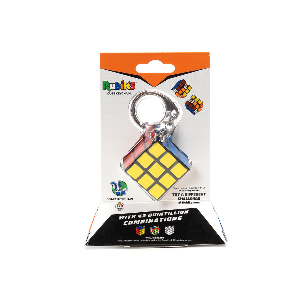 Rubik's Cube Key chain back view