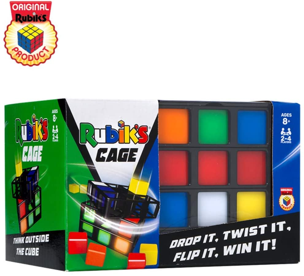 Rubik's Cage Game in packaging