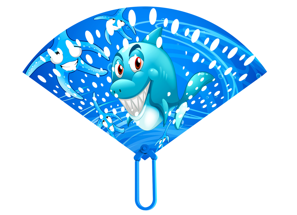 Fanorama Bubble Wand Blue Shark Design