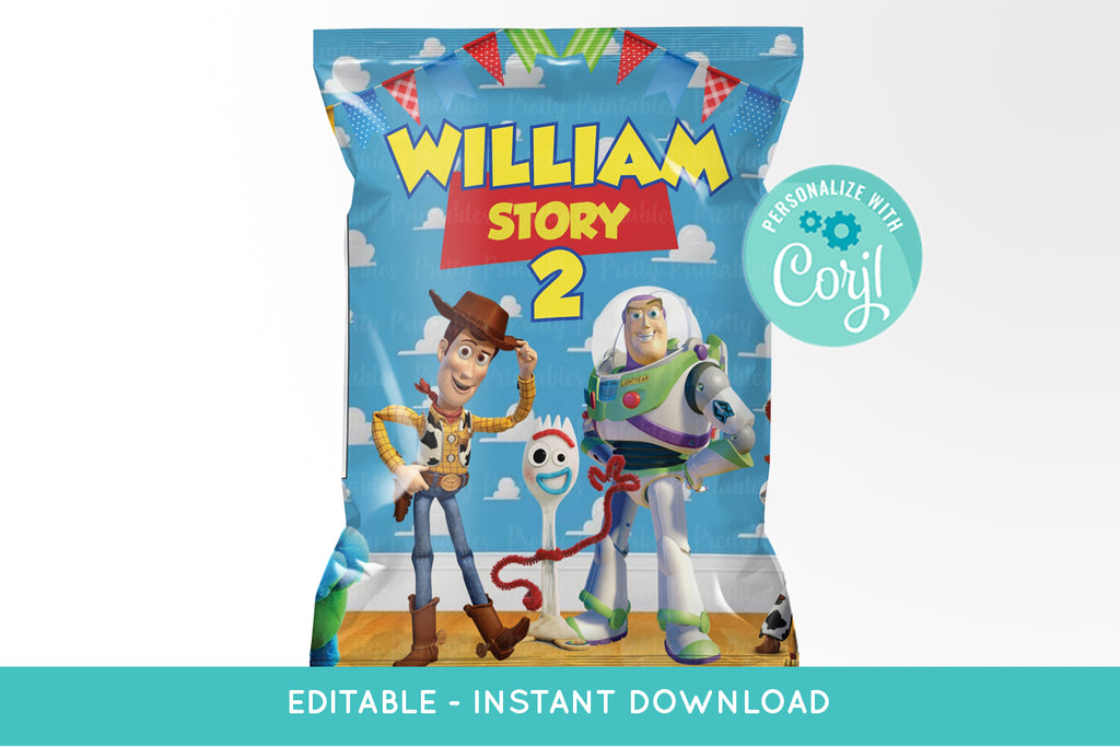 Toy Story 4 Chip Bag Printable - Print Me Pretty