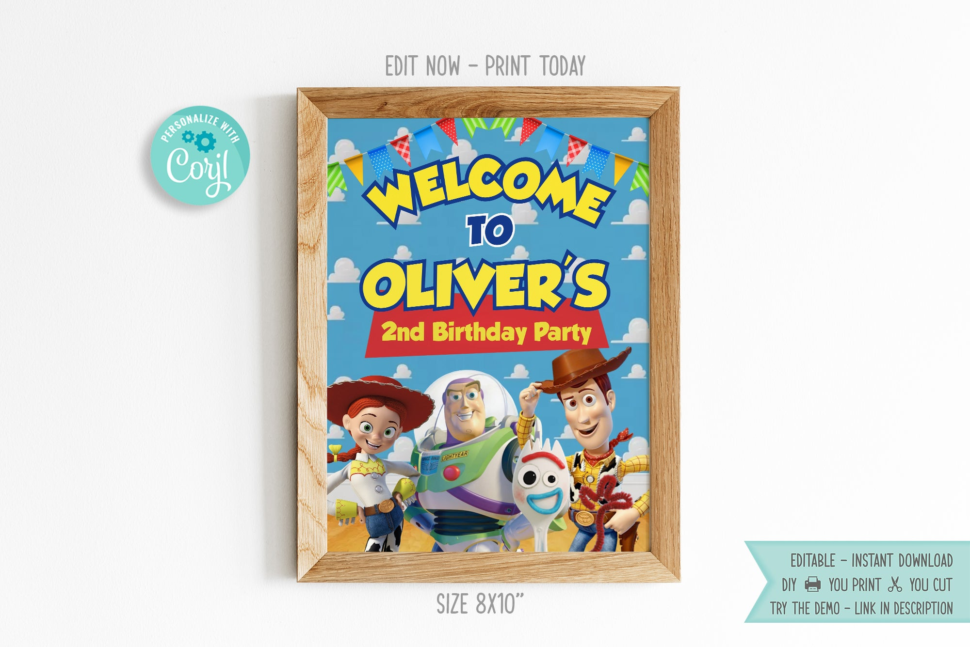 Toy Story Welcome Banner Sign - Print Me Pretty