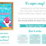 Baby Shark Welcome Banner - Print Me Pretty