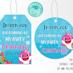 Baby Shark Party Favors Tag Printable - Print Me Pretty