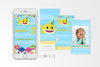 Baby Shark Birthday Invitation Video Animated Card - Print Me Pretty