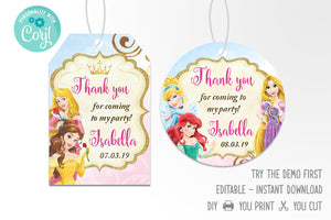 Disney Princess Favor Tag - Print Me Pretty