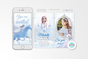 Elsa Video Invitation - Print Me Pretty