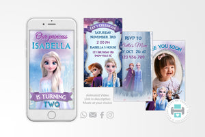 Frozen 2 Video Invitation - Print Me Pretty