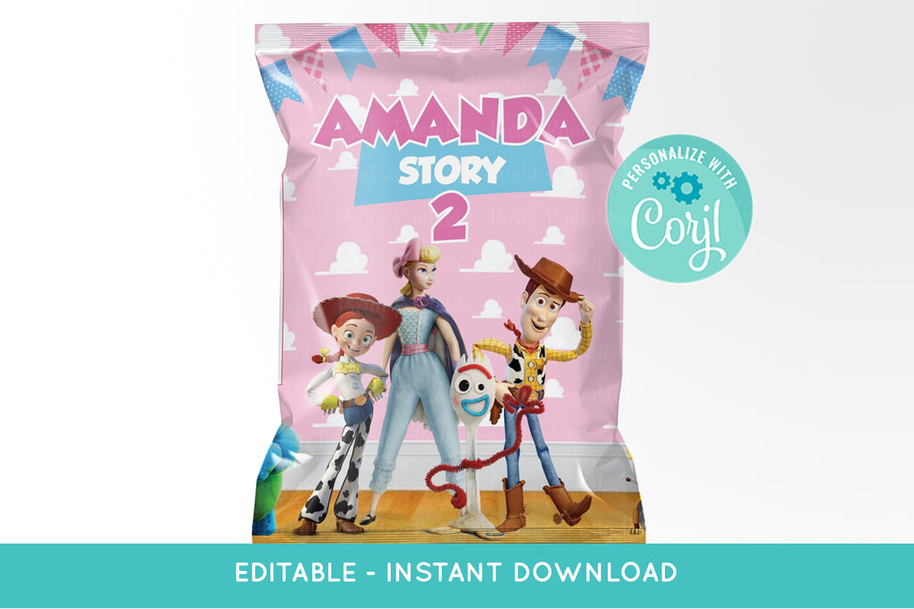 Toy Story 4 Chip Bag Printable Girls - Print Me Pretty