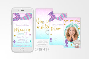 Mermaid Video Invitation - Print Me Pretty