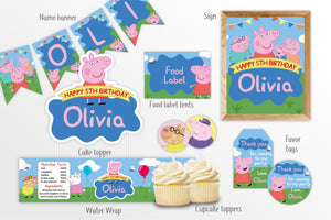 Peppa Pig Party Decorations Bundle - Print Me Pretty