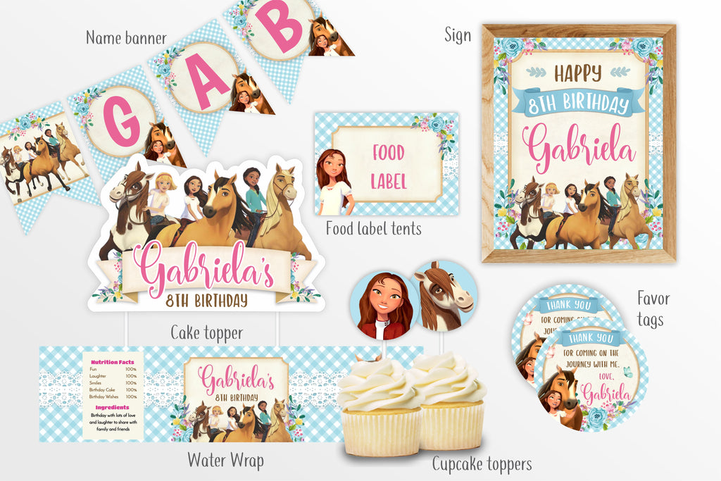 Spirit Riding Free Party Decorations Bundle - Print Me Pretty