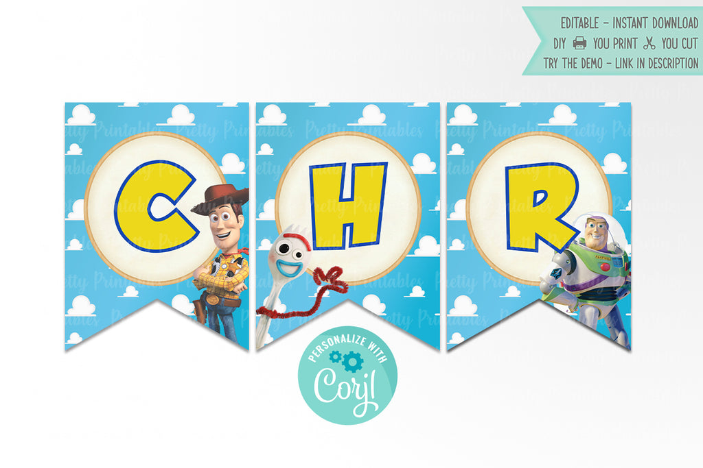 Toy Story 4 Bunting Banner - Print Me Pretty