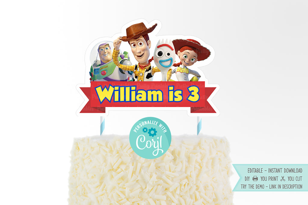 Toy Story 4 Cake Topper - Print Me Pretty
