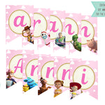 Toy Story 4 Bunting Banner Girls - Print Me Pretty