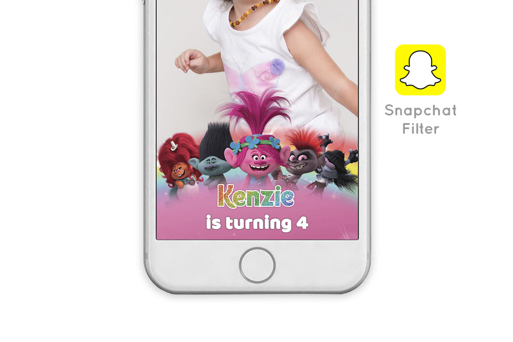Trolls 2 World Tour Snapchat Filter - Print Me Pretty