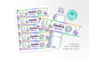 VSCO Girl Water Bottle Lable - Print Me Pretty