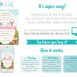 Woodland Creatures Baby Shower Invitation - Print Me Pretty