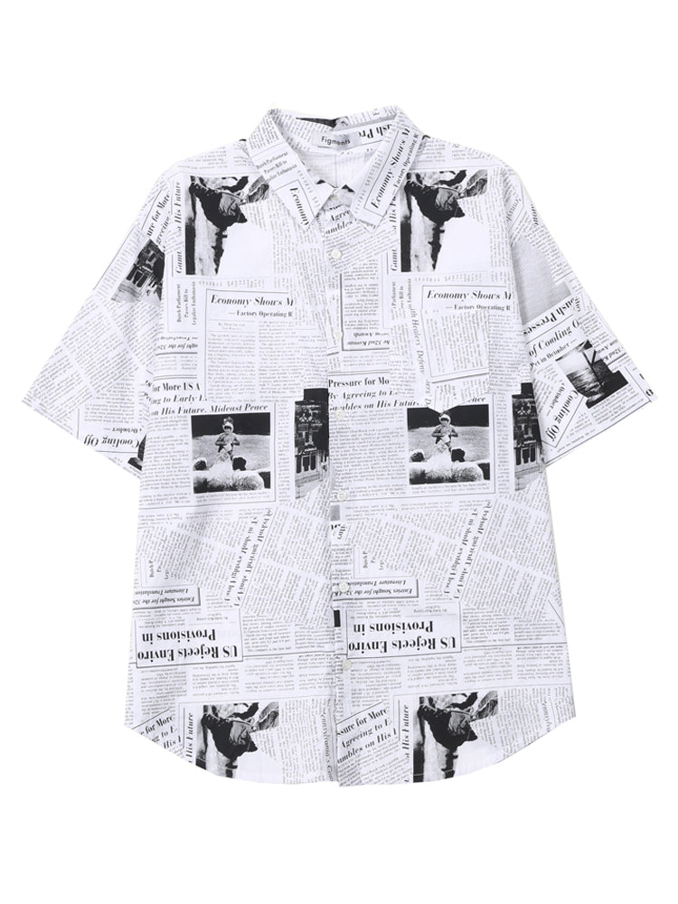【SALE】Newspaperシャツ