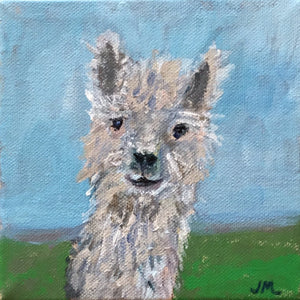 Lil' Llama Mamma, Original Small Painting
