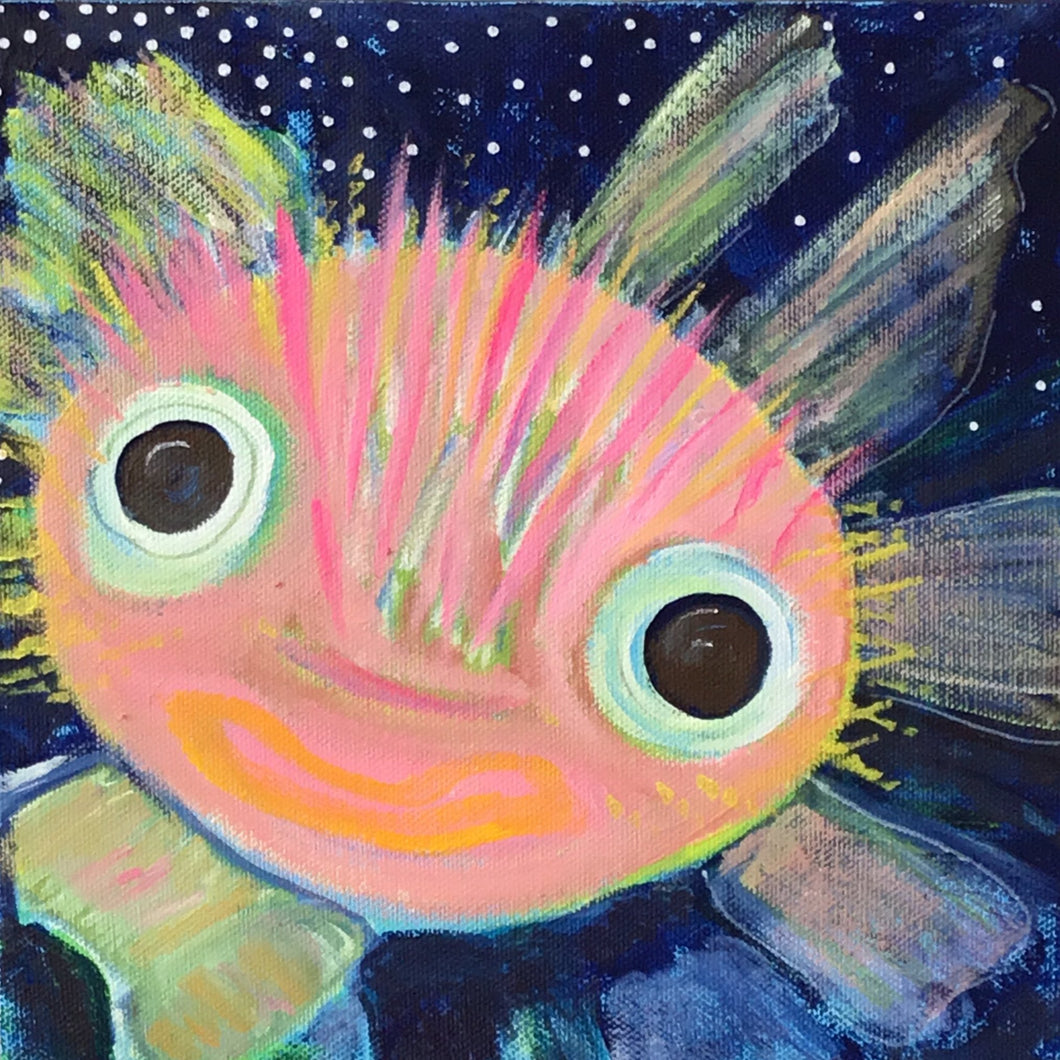 Pufferfish In the Deep Blue