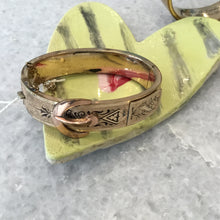 Load image into Gallery viewer, Vintage Victorian Rose Gold Bangle Bracelet with Decorative Buckle